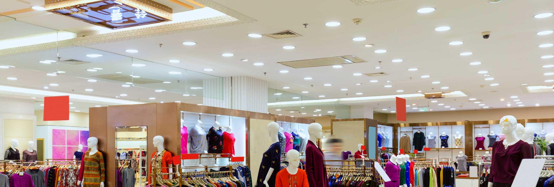 Department Store & Large Retail Shop LED Lighting - LED UK